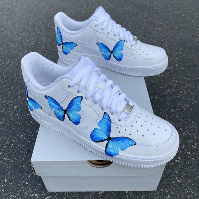 Blue ButterFLY Nike Air Force 1s
