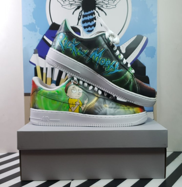 Rick and Morty full colour sneaker