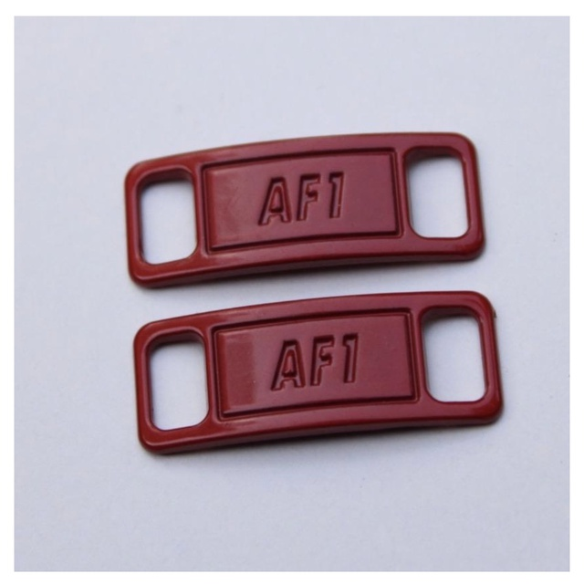Deep Red Nike Air Force 1 Tags