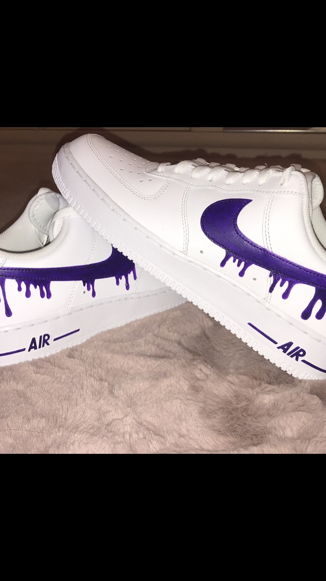 Purple Drip Air Force 1