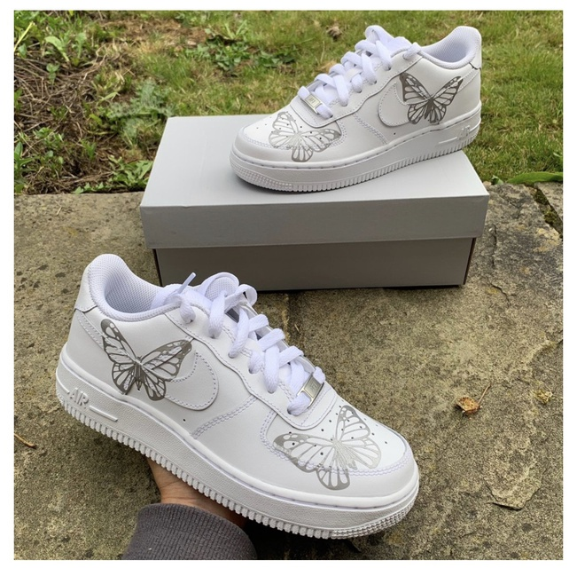3M Reflective Silver Butterfly Nike Air Force 1