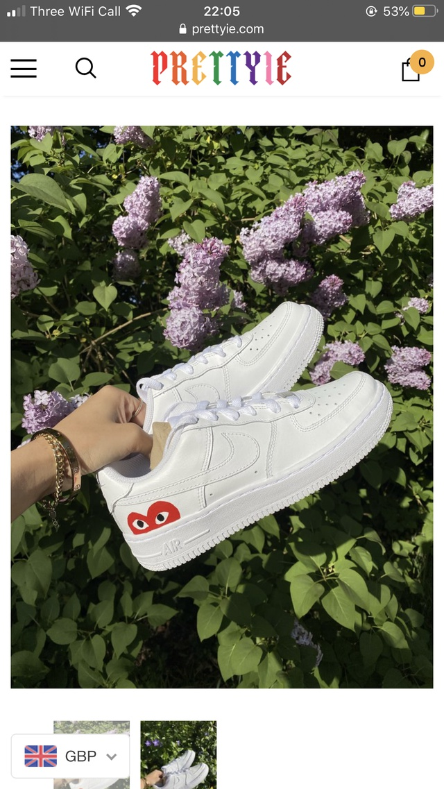CDG Red Heart Air Force 1