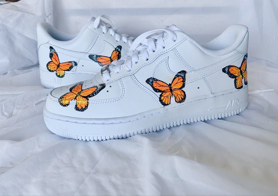 Butterfly Air Force 1s