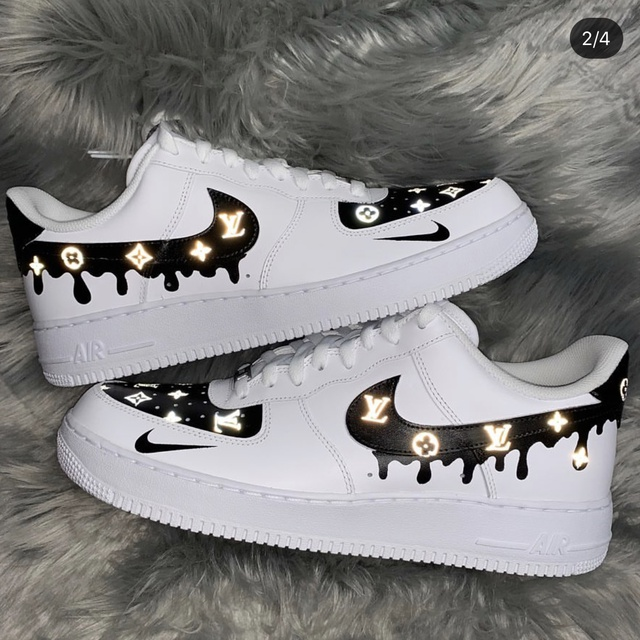 3M Reflective Black LV Monogram Nike Air Force 1