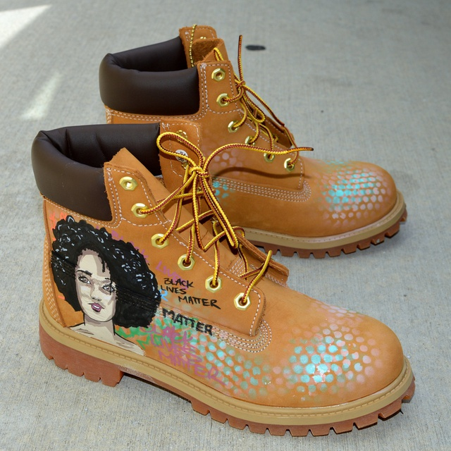 Custom Hand Painted Timberland Boots - Black Lives Matters
