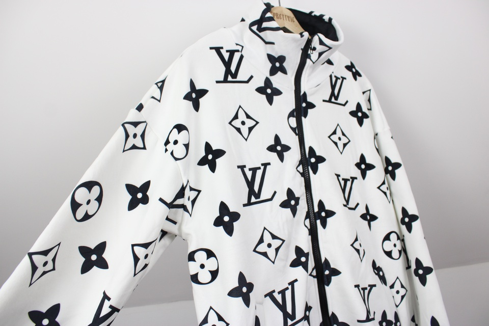 Black & White LV Monogram Custom Jacket