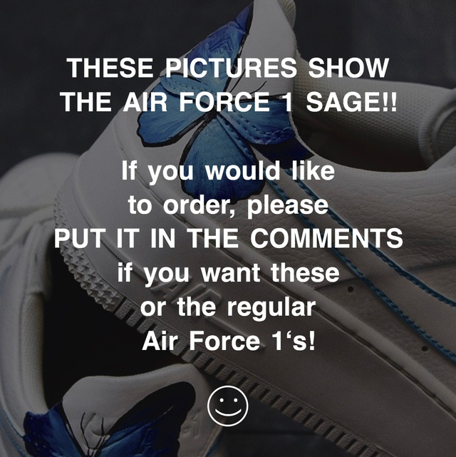 ? Blue Morpho Butterfly Effect Air Force 1 ?