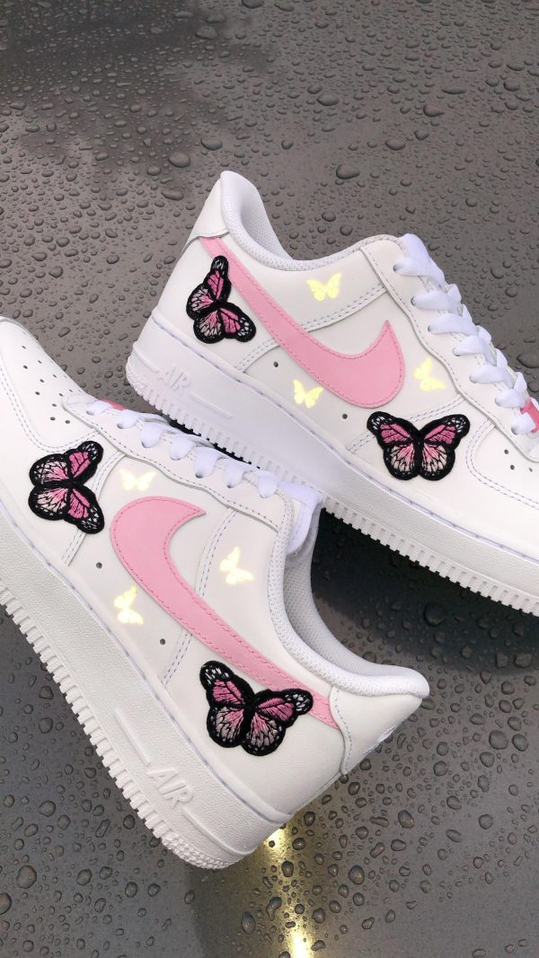 Pink butterfly Forces (reflective)