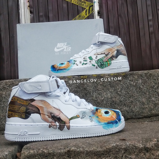 """AIR FORCE 1 MID """"THE CREATION OF ADAM x MONEY x WEED"""""""